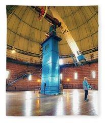 Yerkes Observatory Williams Bay Telescope  Fleece Blanket