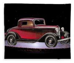 Yesterdays Car Of Tomorrow Fleece Blanket