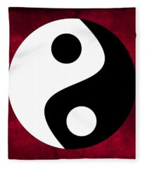 Yin And Yang Fleece Blanket