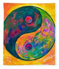 Yin Yang Flow Fleece Blanket
