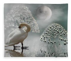 Yinyang - Moon Fleece Blanket