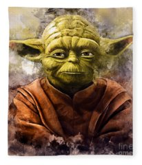 Yoda Art Fleece Blanket