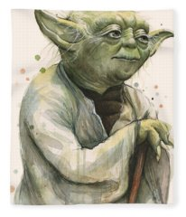 Yoda Portrait Fleece Blanket