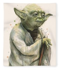 Yoda Portrait Fleece Blanket