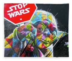 Yoda - Stop Wars Fleece Blanket