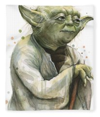Yoda Watercolor Fleece Blanket