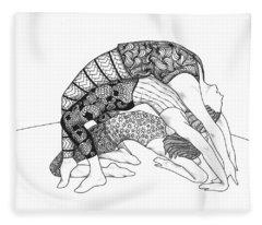 Yoga Sandwich Fleece Blanket