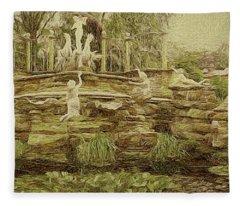 York House Gardens Statues - Twickenham Fleece Blanket
