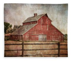York Road Barn Fleece Blanket