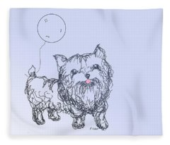Yorkie Fleece Blanket