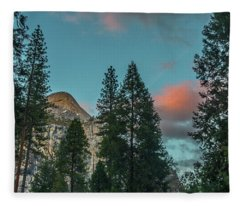Yosemite Campside Evening Fleece Blanket