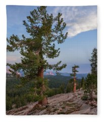 Half Dome From May Lake Fleece Blanket