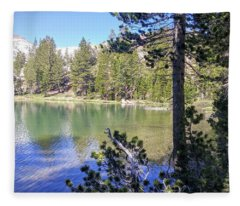 Yosemite Lake Fleece Blanket