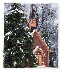 Yosemite Valley Chapel  Fleece Blanket