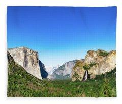Yosemite Valley- Fleece Blanket