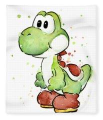 Yoshi Watercolor Fleece Blanket