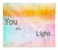 You Are Light Fleece Blanket