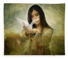 You Bird Of Freedom And Peace Fleece Blanket