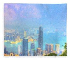 You Can Leave Hong Kong  Fleece Blanket