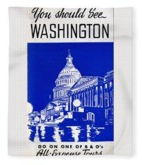 You Should See Washington Fleece Blanket
