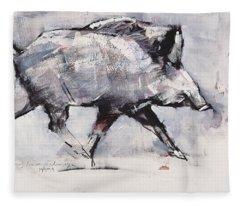 Young Boar Fleece Blanket