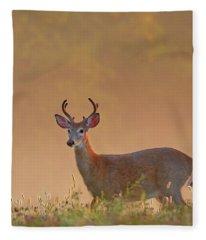 Young Buck Square Fleece Blanket