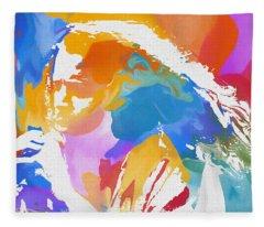 Young Chris Cornell Fleece Blanket