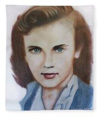 Young Elizabeth  Fleece Blanket