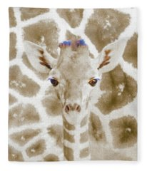 Young Giraffe Fleece Blanket