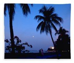 Young Lovers In Penang Fleece Blanket