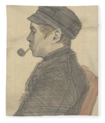 Young Man With A Pipe Nuenen, March 1884 Vincent Van Gogh 1853 - 1890 Fleece Blanket