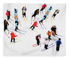 Young Skiers Fleece Blanket