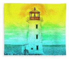 You're My Beacon Peggy's Cove Lighthouse Fleece Blanket