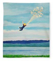 Youth Is Fleeting Fleece Blanket