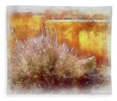 Yucca And Adobe In Aquarelle Fleece Blanket