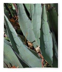 Yucca Leaves Fleece Blanket
