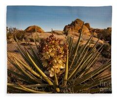 Yucca Bloom Fleece Blanket