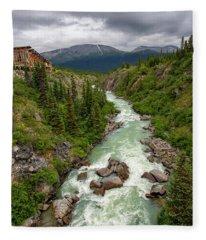 Yukon River Fleece Blanket