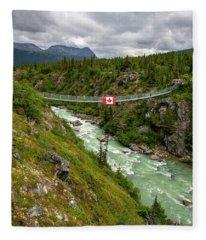 Yukon Suspension Bridge Fleece Blanket