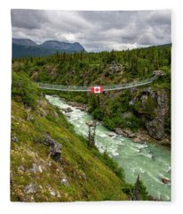 Yukon Suspension Bridge Fleece Blanket