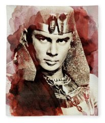 Yul Brynner, Vintage Actor Fleece Blanket