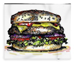 Yummy Burger Fleece Blanket