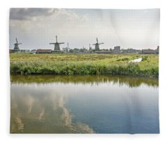 Zaandam Skyline Fleece Blanket