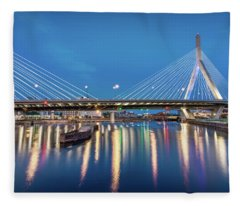 Zakim Bridge And Charles River At Dawn Fleece Blanket