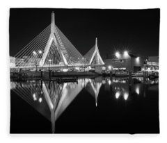 Zakim Bridge From Lovejoy Wharf Fleece Blanket