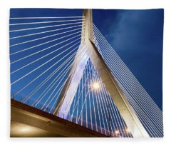 Zakim Bridge Upclose Fleece Blanket