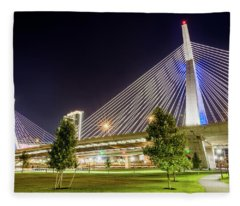 Zakim Bridge Fleece Blanket