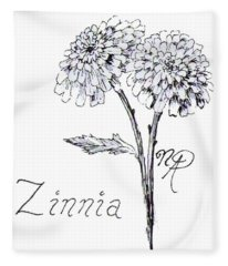 Zannie Zinnia Fleece Blanket