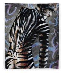 Zebra Boy At Dawn Fleece Blanket