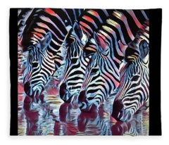 Zebra Dazzle Fleece Blanket